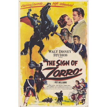 The Sign of Zorro (1960) 11x17 Movie Poster](Halloween 1960)