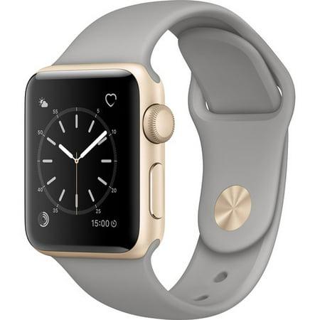 Refurbished Apple Watch Gen 2 Series 1 38mm Gold Aluminum - Concrete Sport Band MNNJ2LL/A
