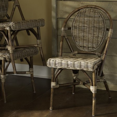 Padmas Plantation Paris Bistro Stacking Patio Dining Chair (Set of 2) ()