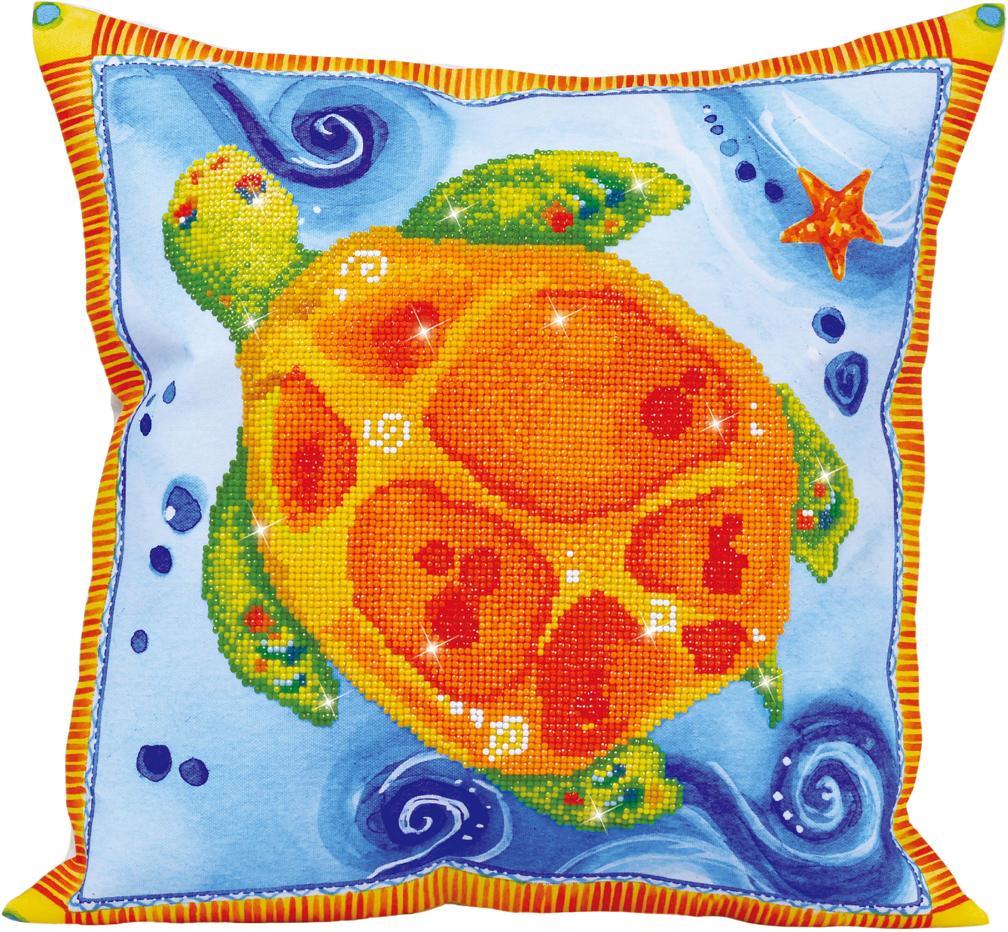 """Diamond Dotz Diamond Embroidery Pillow Facet Art Kit-Turtle Journey (17.5""""X17.5"""")"""