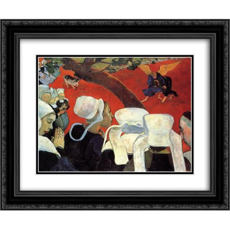Paul Gauguin 2x Matted 24x20 Black Ornate Framed Art Print 'The Vision after the Sermon (Jacob wrestling with the Angel)'