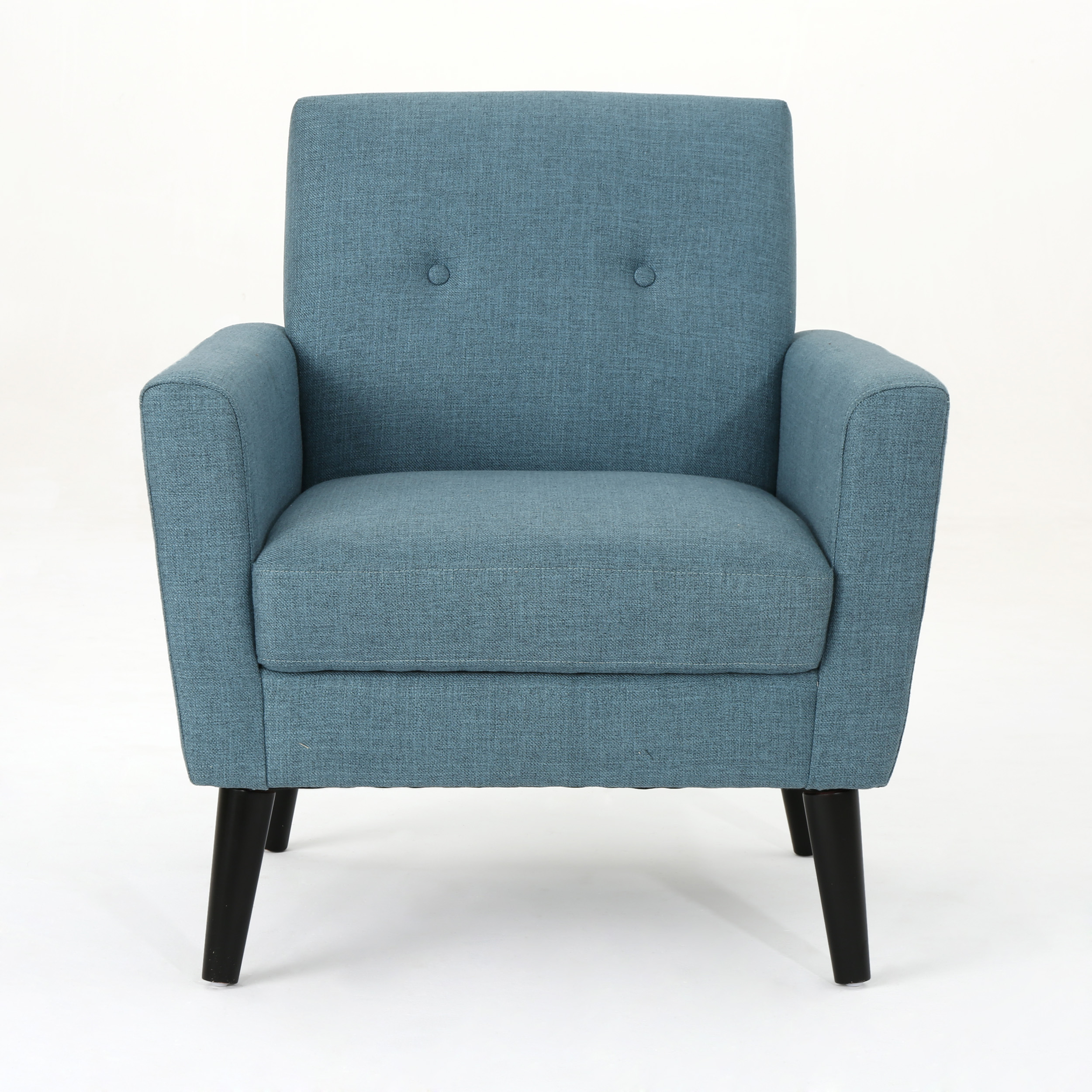 Sierra Mid Century Fabric Club Chair, Blue by GDF Studio