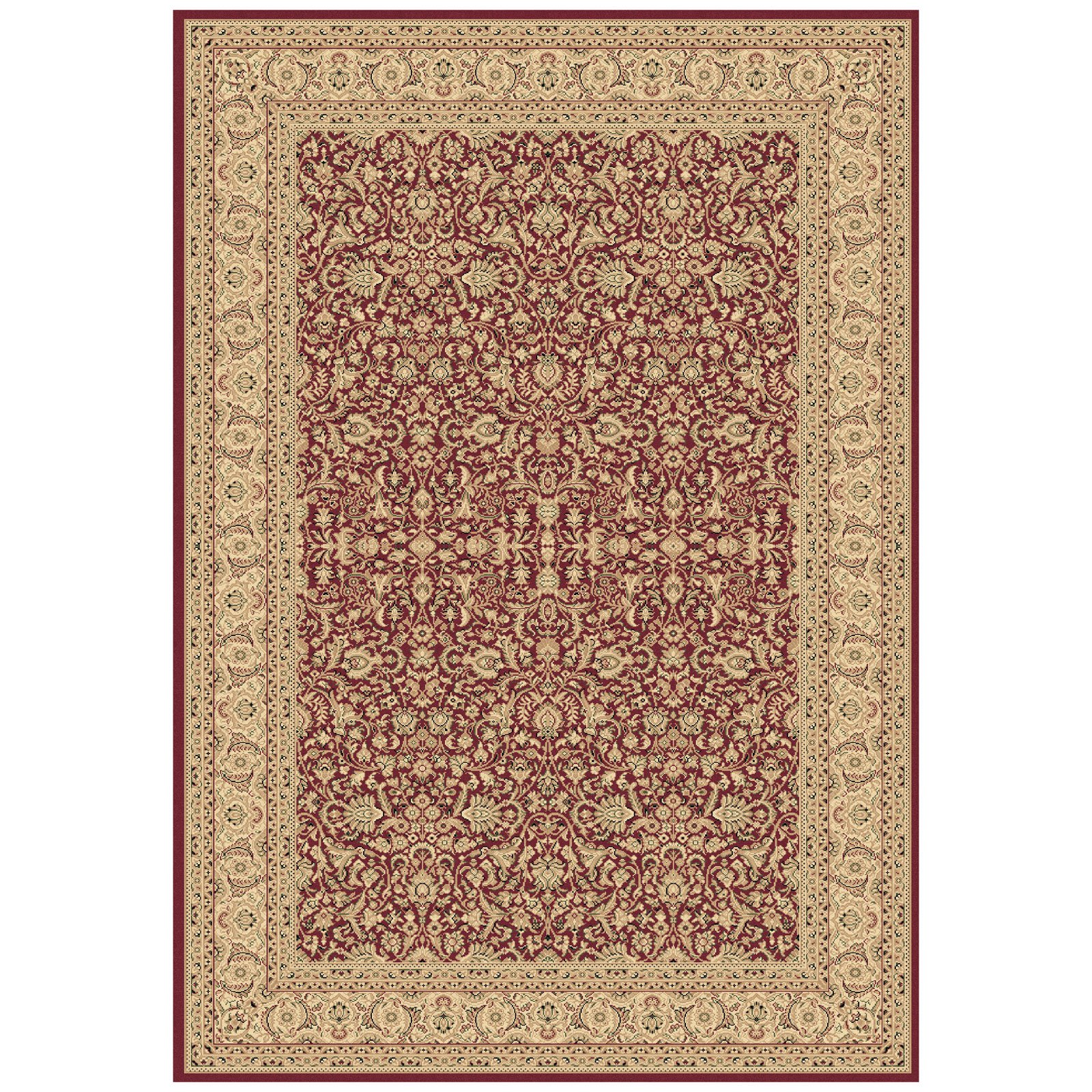 Dynamic Rugs Legacy 58004 All-Over Persian Rug - Red