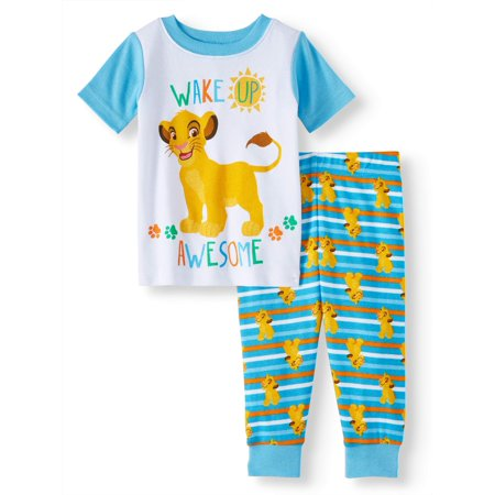 Cotton Tight Fit Pajamas, 2pc Set (Baby Boys) - Lion Pajamas For Adults