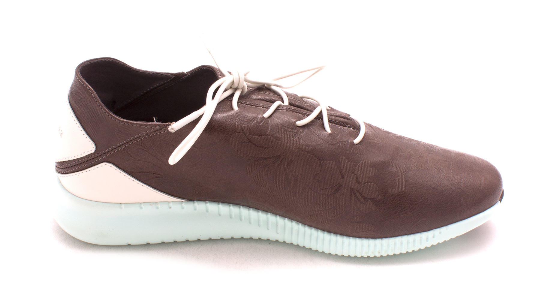 Cole Haan Womens Laverniasam Low Top Lace Up Fashion, Brown/White/Mint, Size 6.0