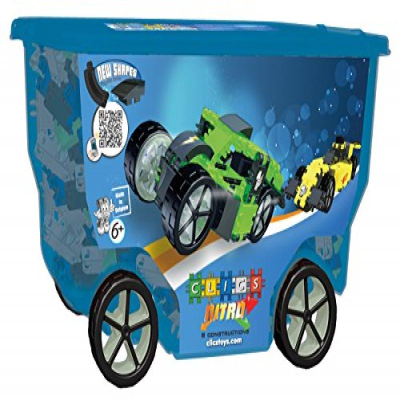 CLICS TOYS Nitro Rollerbox Toy, 400-Piece