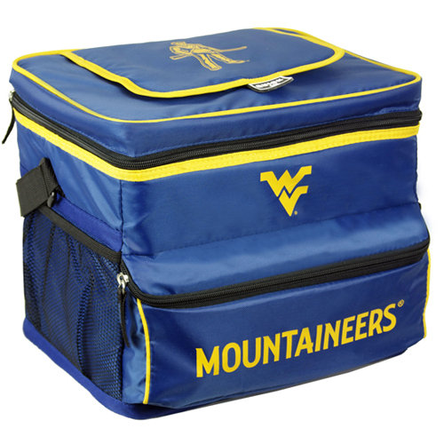 NCAA West Virginia University 18-Can Cooler with Removable Hardliner