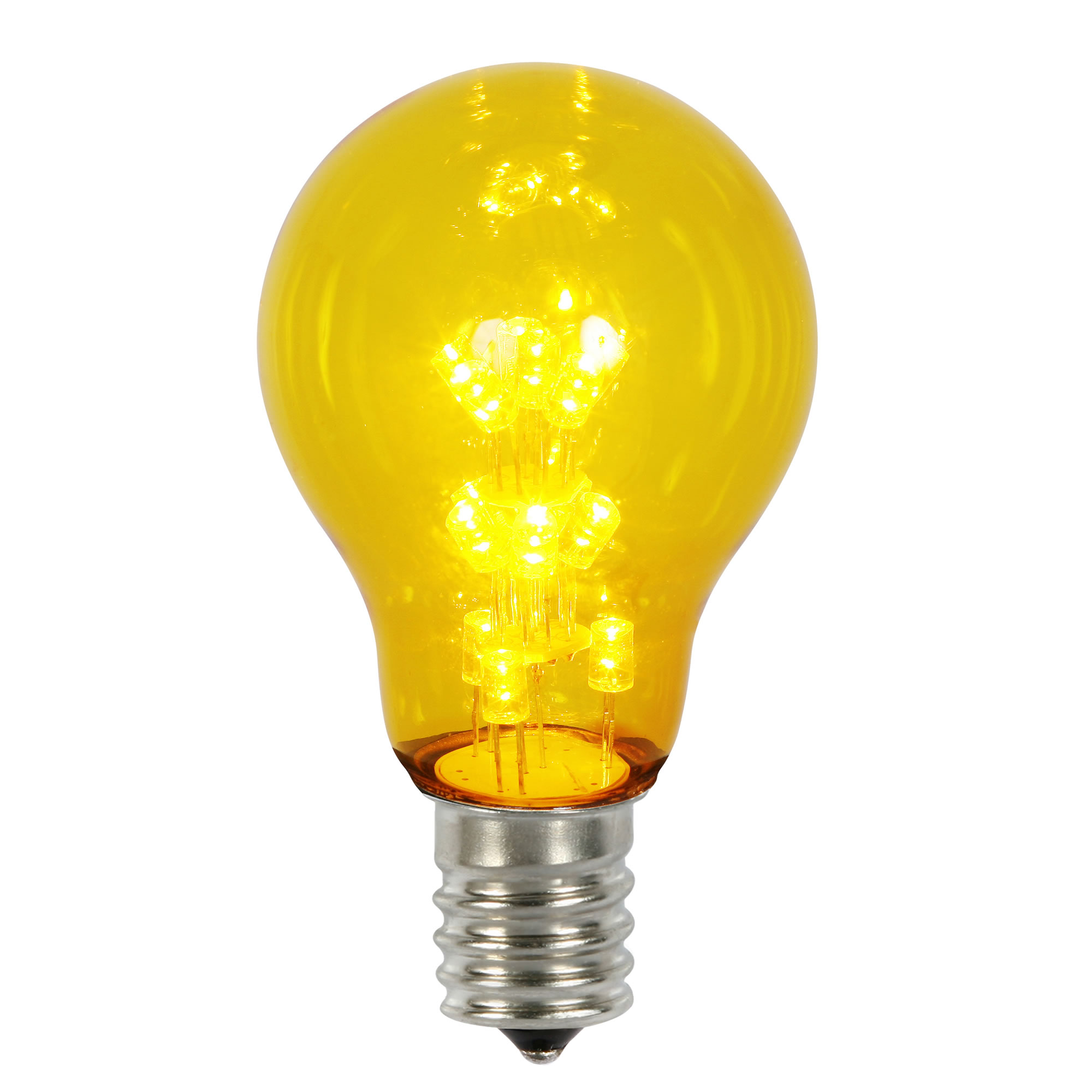Vickerman A19 LED Yellow Transparent Replacement Bulb E26 Nickel Base