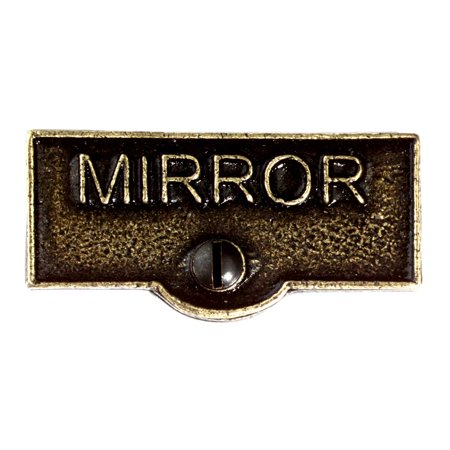 Switch Plate Tags MIRROR Name Signs Labels Cast Brass | Renovators Supply