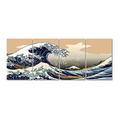 Latitude Run Stretched Digital Graphic Art Print Multi-Piece Image on Wrapped Canvas