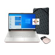"""HP 15.6"""", Athlon N3050, 4GB RAM, 128GB SSD, Rose Gold, Wireless Mouse, Sleeve, Windows 10 Home in S mode with Microsoft 365, 15-ef1073wm"""
