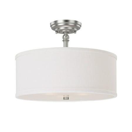 - Capital Lighting  Loft Collection 3-light Matte Nickel Semi Flush Fixture