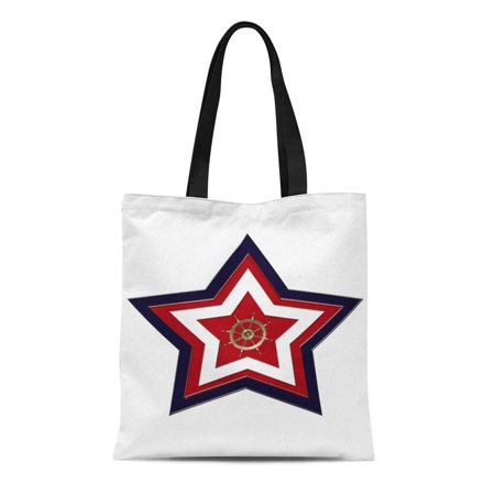 Patriotic Duck (SIDONKU Canvas Tote Bag Nautical Patriotic Star Gold Duck Baggu Groupestahl Deluxephotos Reusable Handbag Shoulder Grocery Shopping Bags)