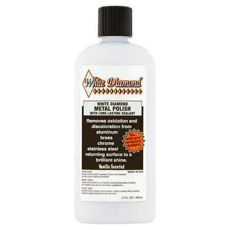 White Diamond Metal Polish with Long Lasting Sealant, 12 fl (Best Car Polish For White Cars)