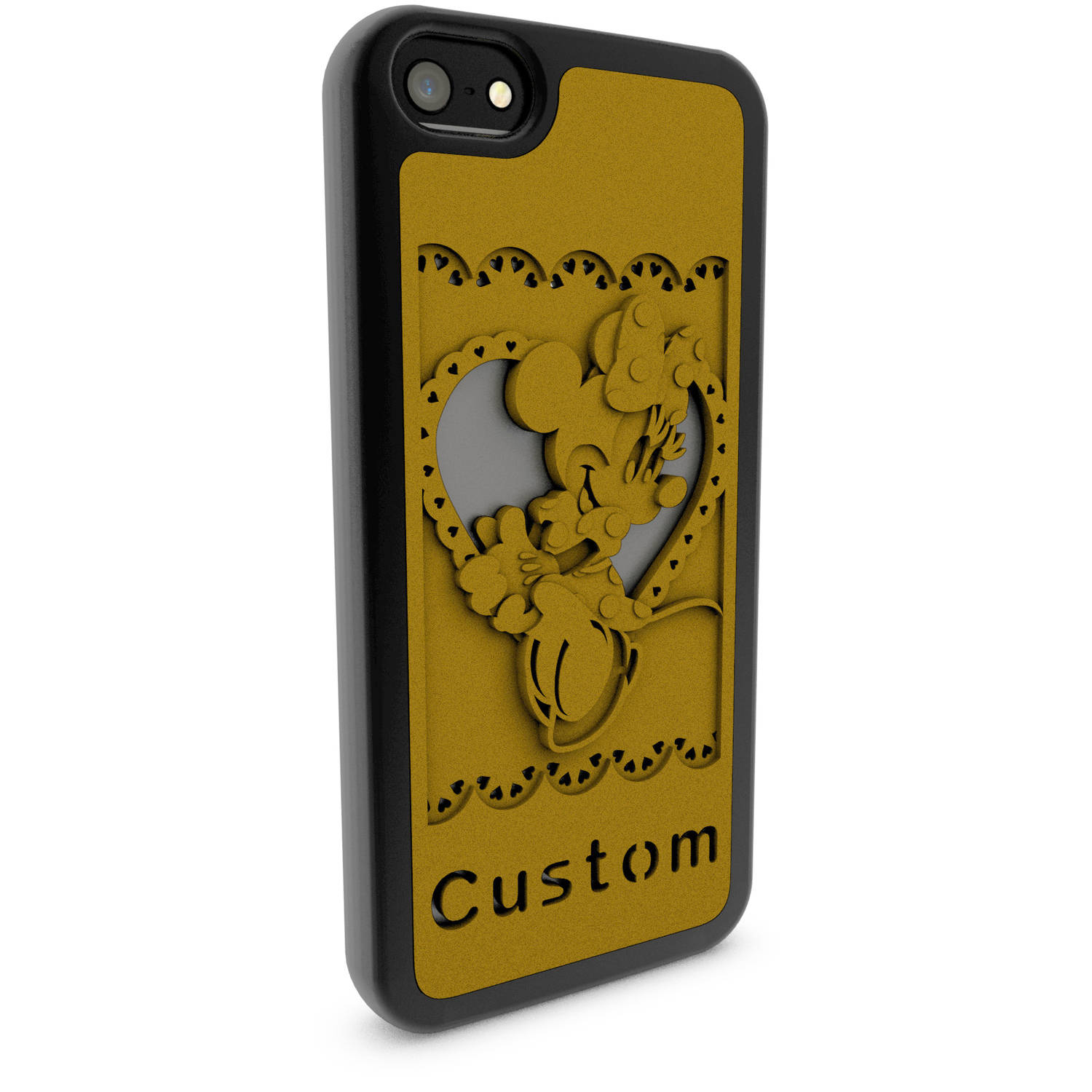 Apple iPhone 5 and 5S 3D Printed Custom Phone Case - Disney Classics - Minnie