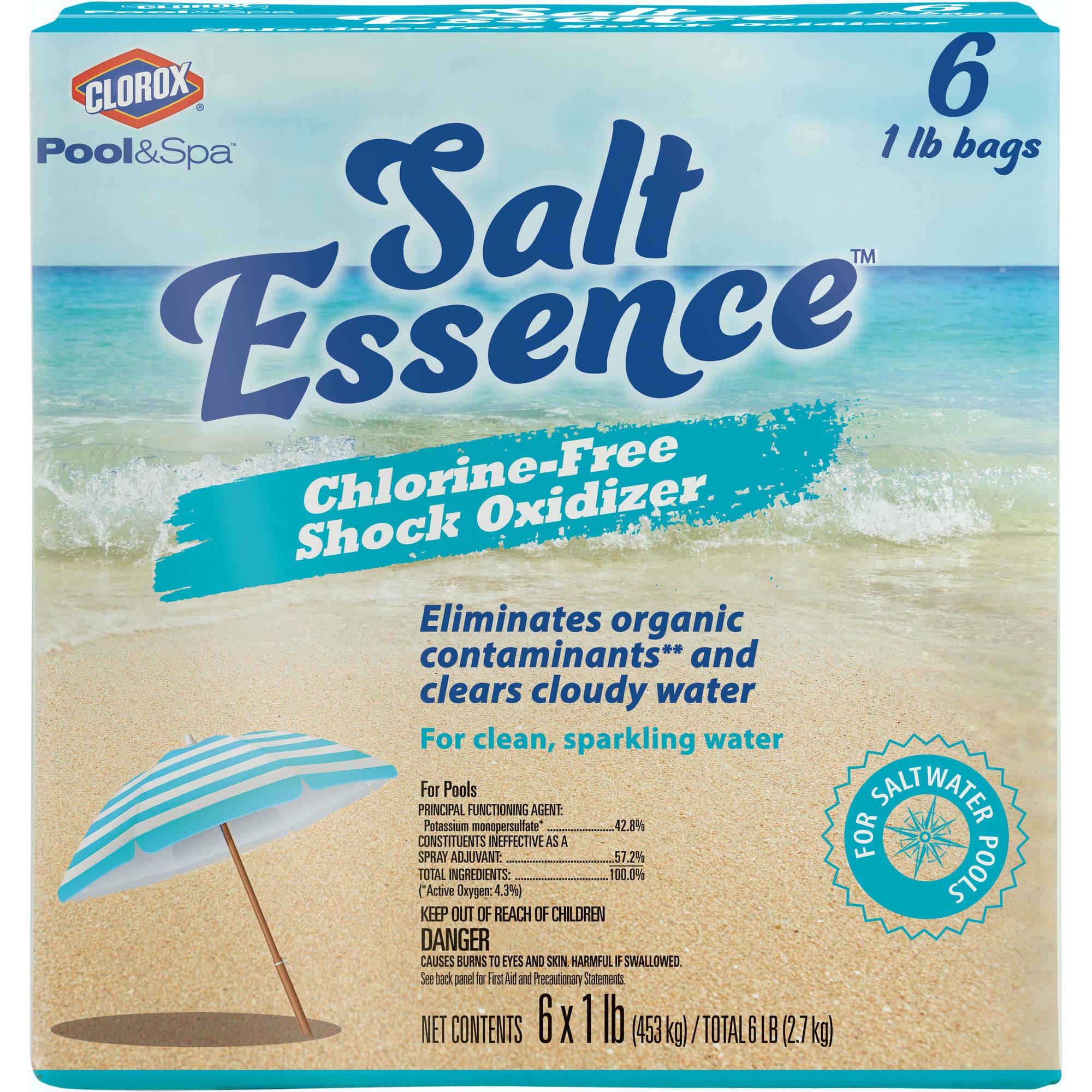 Clorox Pool&Spa Salt Essence 6-Pack 1 lb Salt Pool Chlorine Free Shock