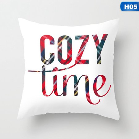 Fancyleo Merry Christmas Happy Xmas Gift Designed Throw Pillow Case Cover Cushion Vogue ()