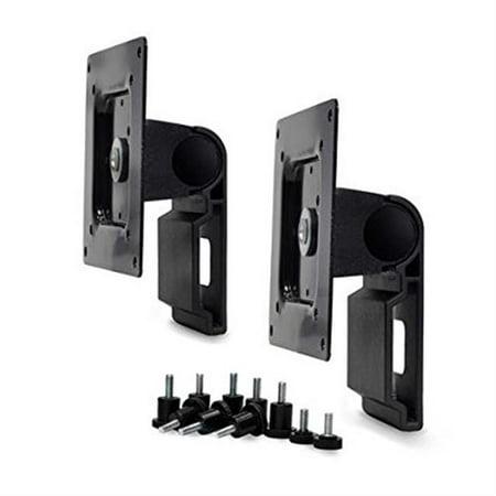 Dual Monitor Tilt Pivot Kit in Black for - Tilt Pan Pivot