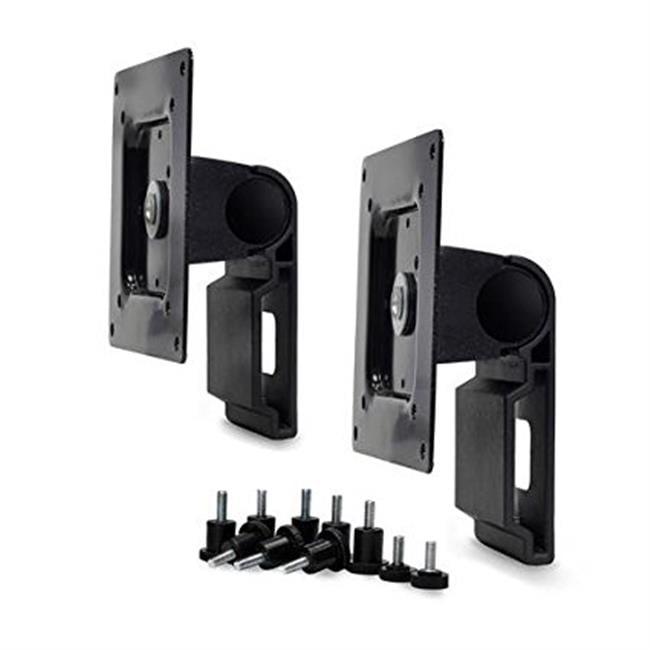 Dual Monitor Tilt Pivot Kit in Black for Monitors