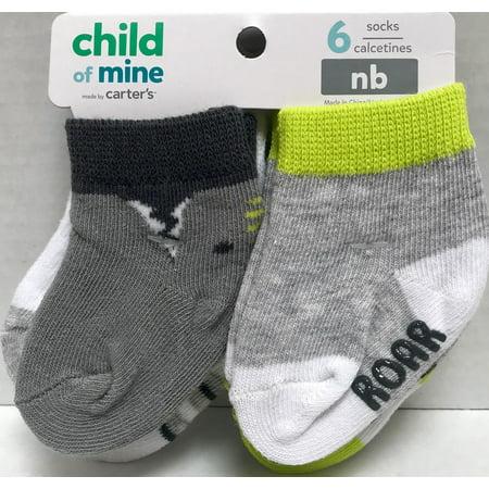 Child Of Mine Boys Dino Socks, 6 Pack