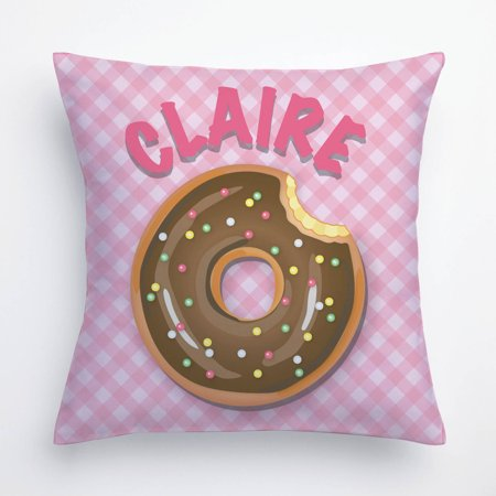 Teal Bed Pillow (Yummy Donut Personalize Pillow In Yellow, Teal, Pink or Green)