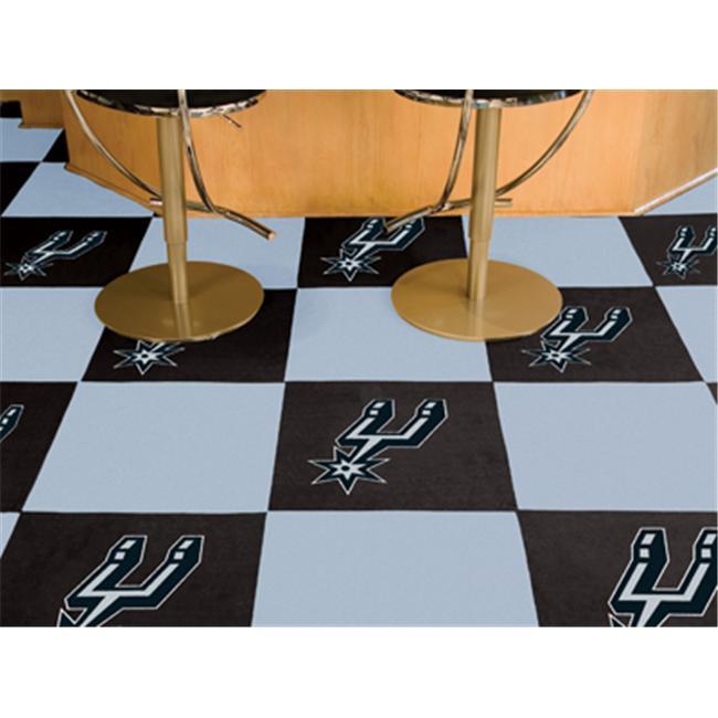 FANMATS 9408 San Antonio Spurs Carpet Tiles 18 in. x 18 in. tiles