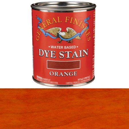 General Finishes, Water Based Dye, Orange, Pint ()
