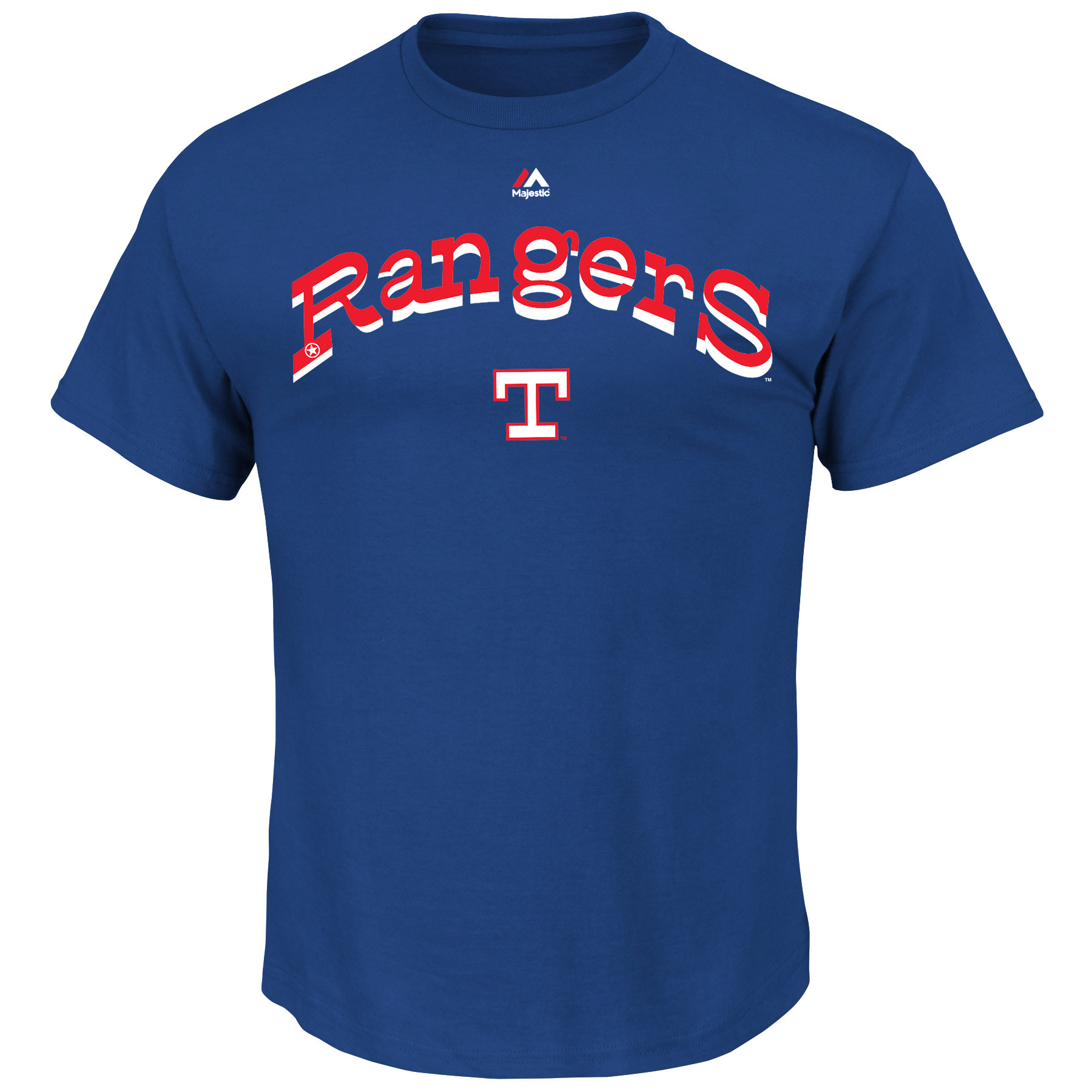 Texas Rangers Majestic Cooperstown Collection Series Sweep T-Shirt - Royal