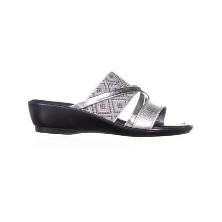 Easy Street Palazzo Slip On Strappy Sandals, Silver - image 4 de 6