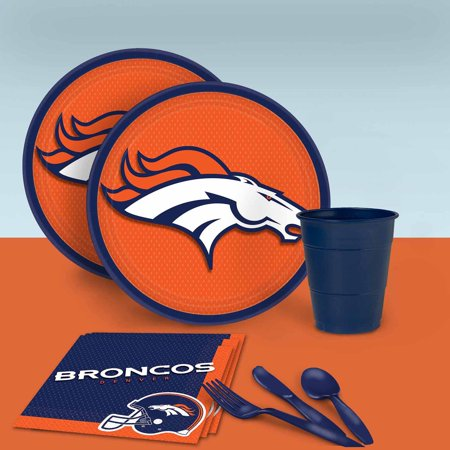 Denver Broncos Tableware Party Pack for 16 for $<!---->