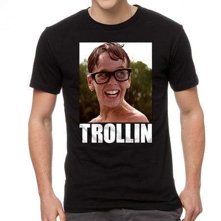 The Sandlot Trollin Squints Graphic Men's Black (Squints Sandlot Costume Shirt)