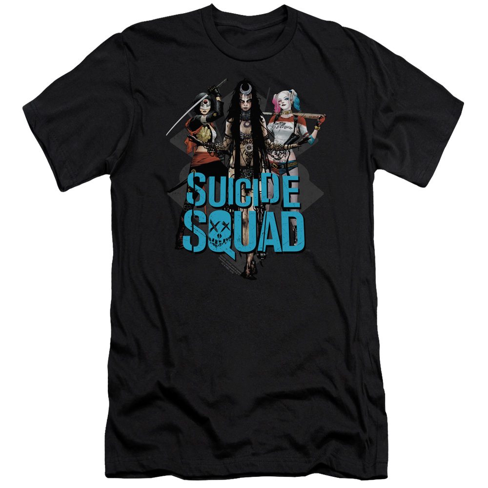 Suicide Squad Lovely Death Mens Premium Slim Fit Shirt
