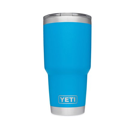 YETI Rambler 30 oz Stainless Steel Blue Vacuum Insulated Tumbler With Lid
