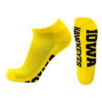 Iowa Hawkeyes No Show Footie, Gold Sock