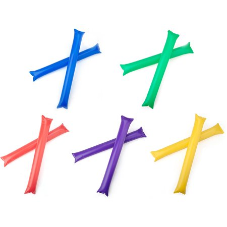 GOGO Bam Bam Thunder Sticks, Cheerleading Outfit, Inflatable Noisemakers (Price / 50 Pairs)-Assorted (Gogo Dancer Outfit)