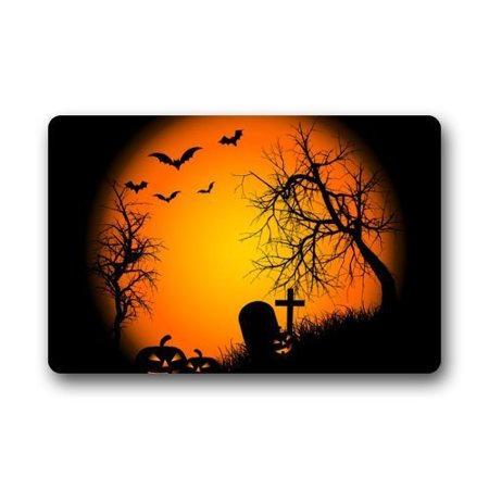 WinHome Halloween Doormat Floor Mats Rugs Outdoors/Indoor Doormat Size 23.6x15.7 inches - Floor 5 Halloween 100 Floors