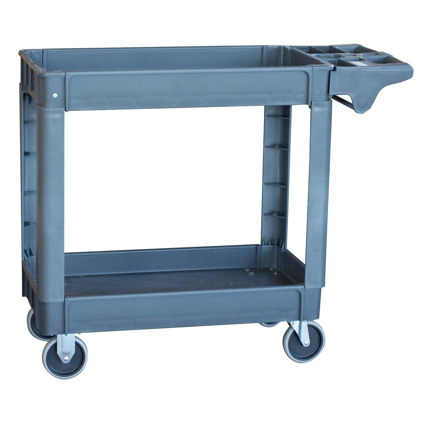 Pro Series Two Shelf Heavy Duty Utility Cart Walmart