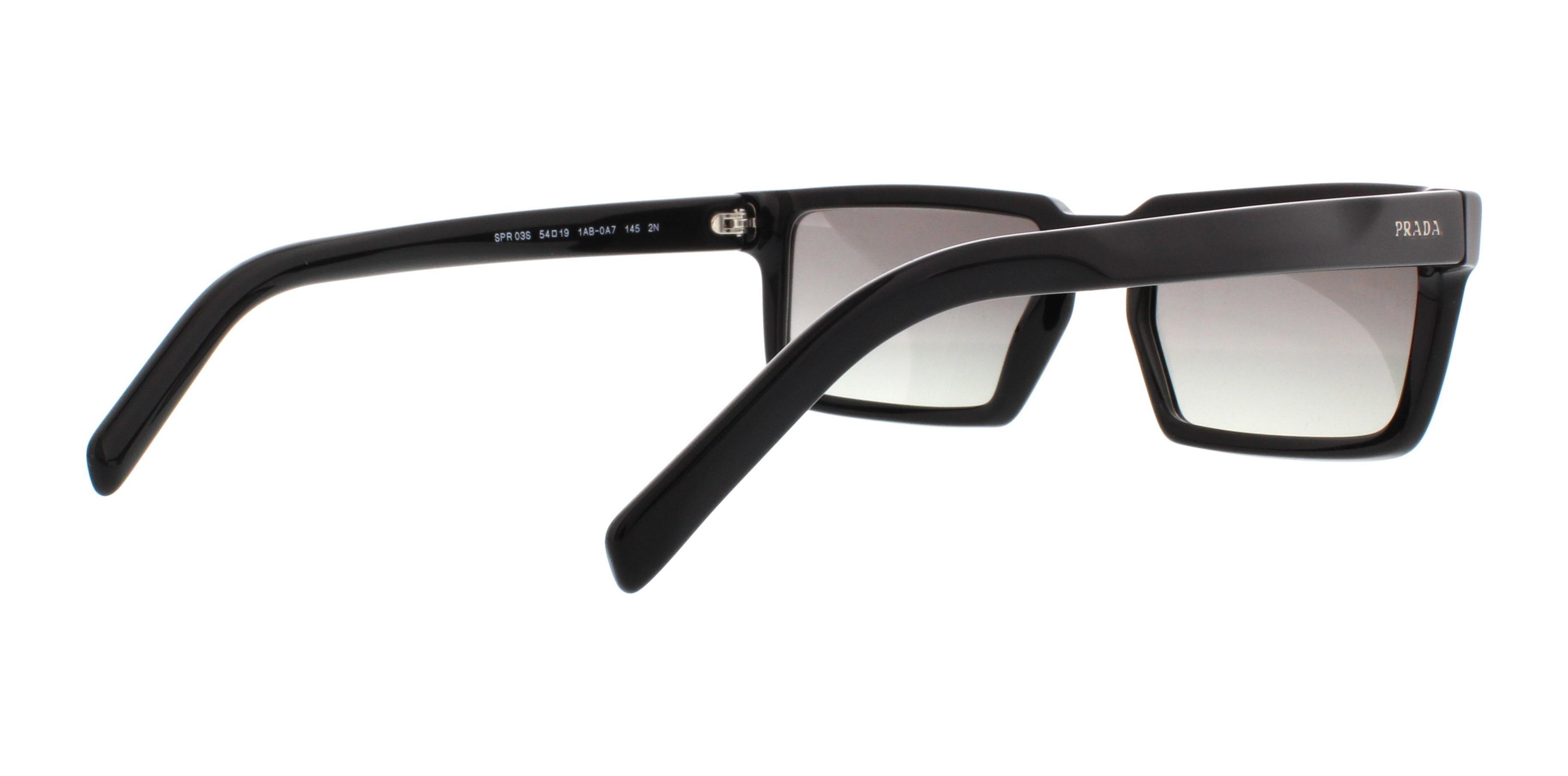 d2e80cf915f PRADA - PRADA Sunglasses PR 03SS 1AB0A7 Black 54MM - Walmart.com