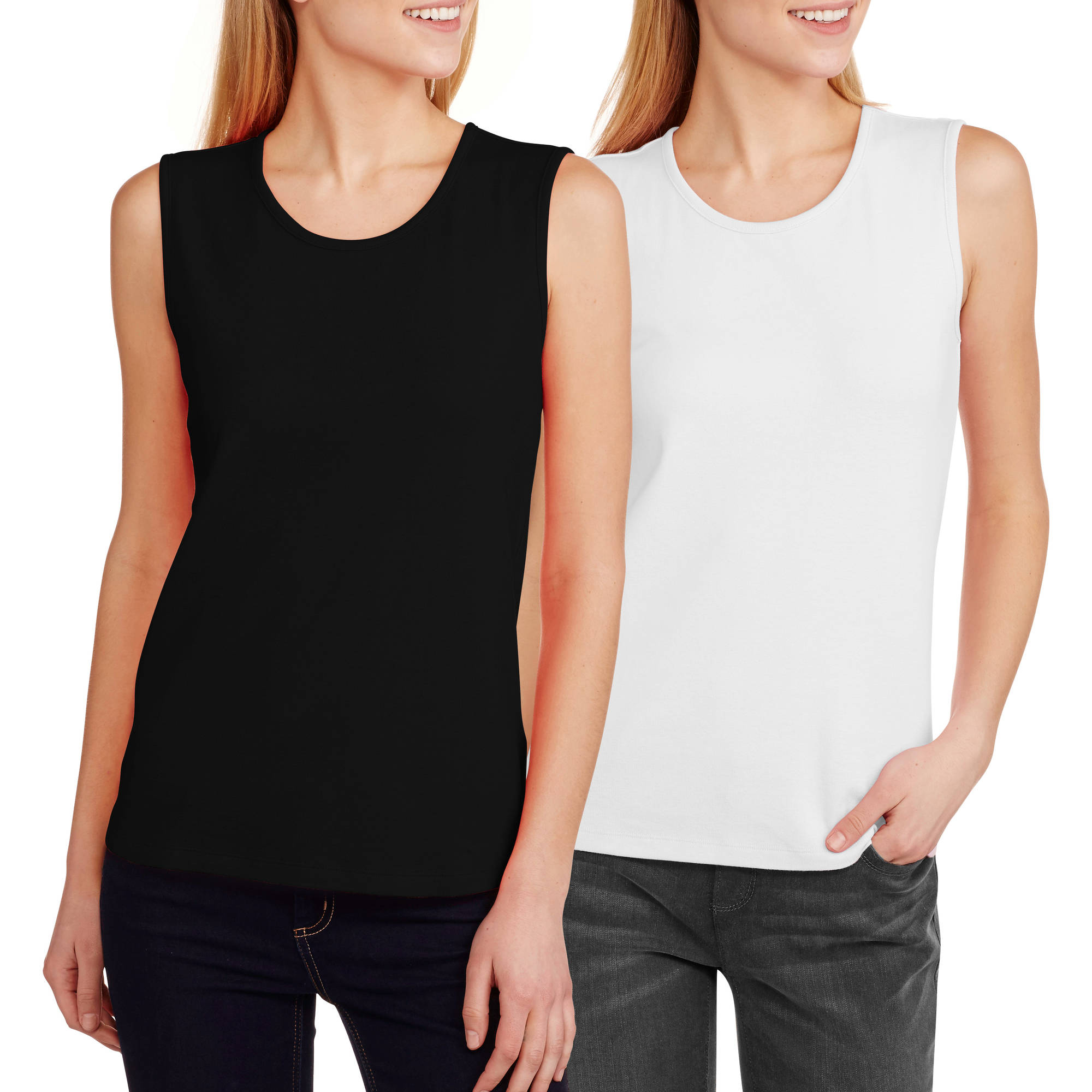 White Stag Women's Layering Tank, 2-Pack