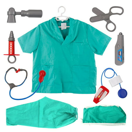 TopTie Doctor Nurse Role Play Set Dress Up Surgeon Costumes Set For Kids Great Gift - Nurse Fancy Dress Costumes