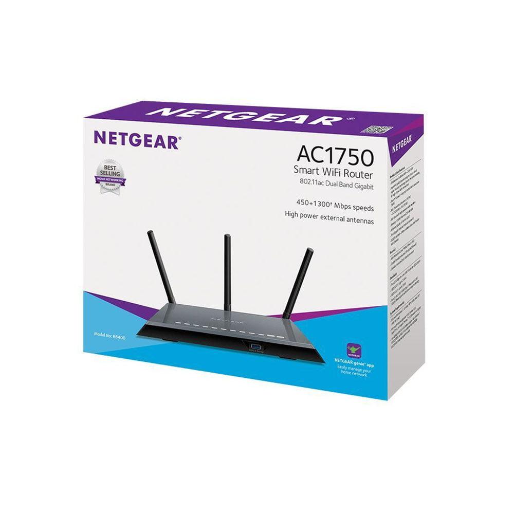 NETGEAR AC1750 Dual Band WiFi Router, Gigabit Ethernet (R6400)