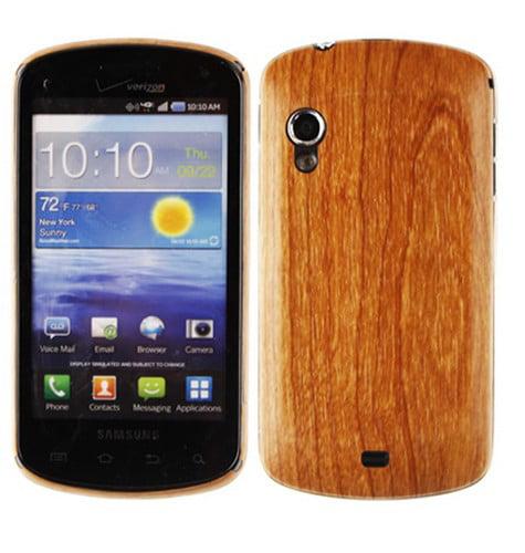 Skinomi Light Wood Full Body Skin+Screen Protector Film for Samsung Stratosphere