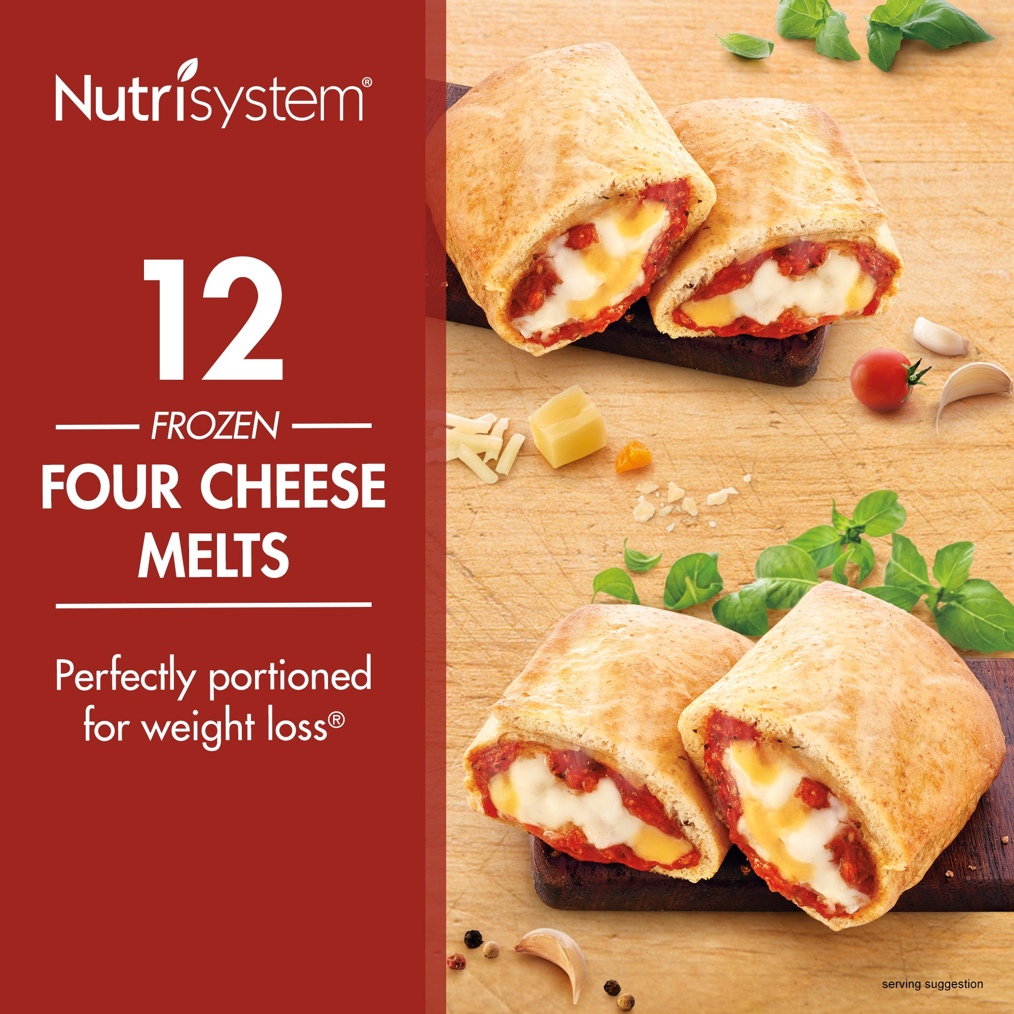 Nutrisystem Frozen Four Cheese Lunch Melt, 4.0 oz, 12 Ct