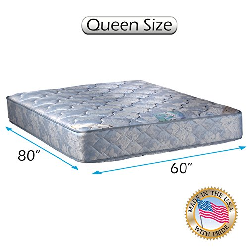 """Chiro Premier Orthopedic (Blue Color) Queen Size Mattress Only (60""""X80""""X9"""") - Medium Firm, Fully Assembled, Good for your back, Superior Quality, Long Lasting and 2 Sided - By Dream Solutions USA"""