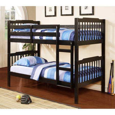 Elise Youth Bunk Bed White Rail And Ladder Box