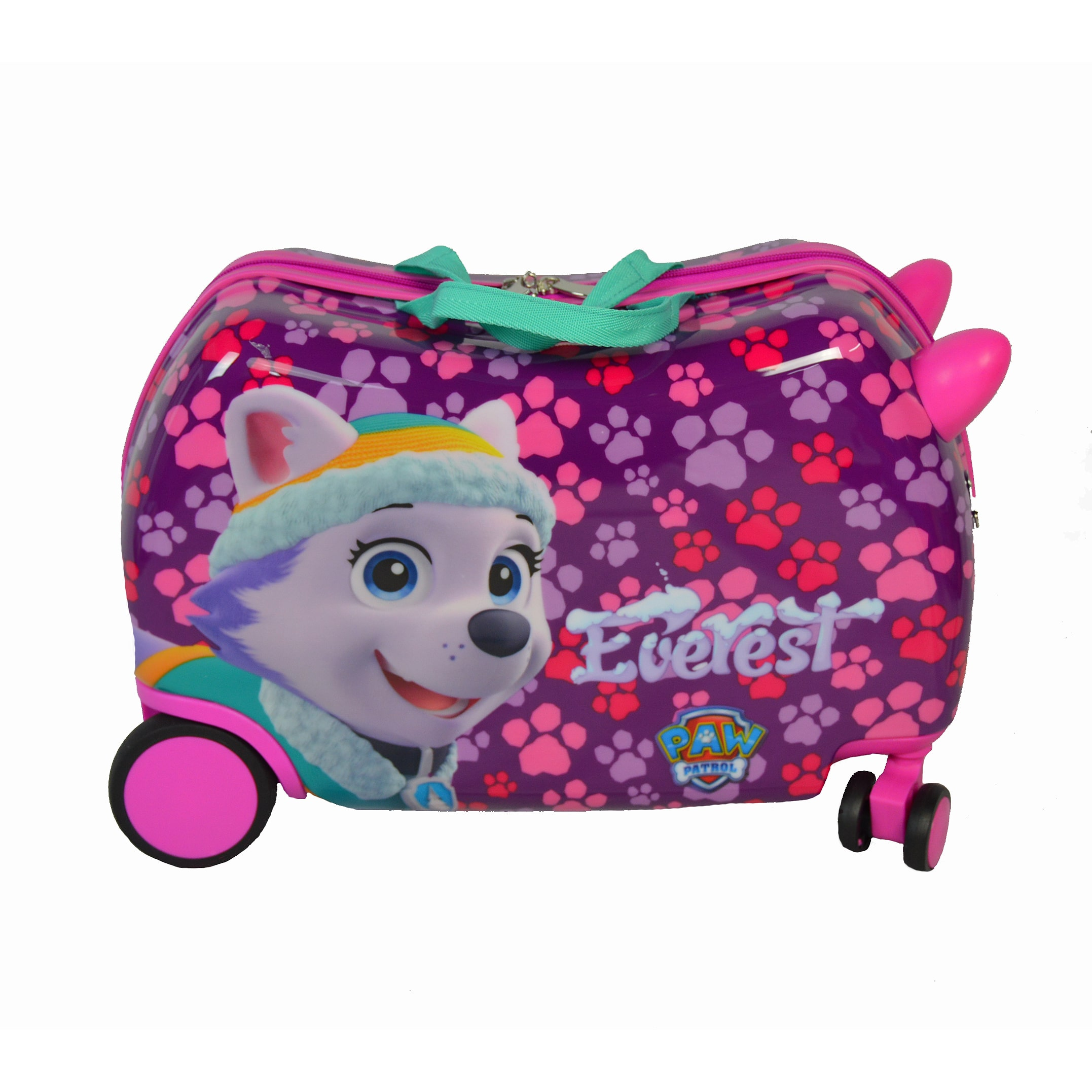 "AMERICAS TRAVEL MERCHANDISE Paw Patrol Cruizer ""Everest & Skye"" Ride-On 16-inch Hardside Rolling Suitcase"