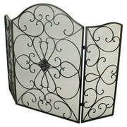 Aspire Home Accents Monty Black Metal Fire Screen