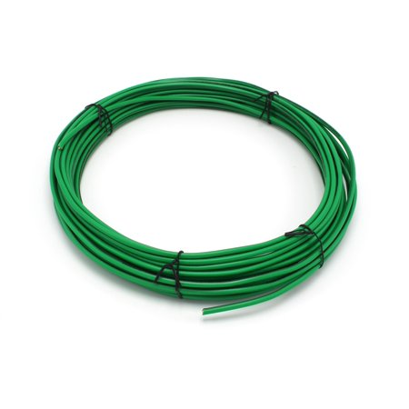 Solid Copper Grounding Wire 14 AWG THHN Cable 100' FT Green Jacketed Antenna Lightning Strike # 14 GA Ground Protection Satellite Dish Off-Air TV Signal