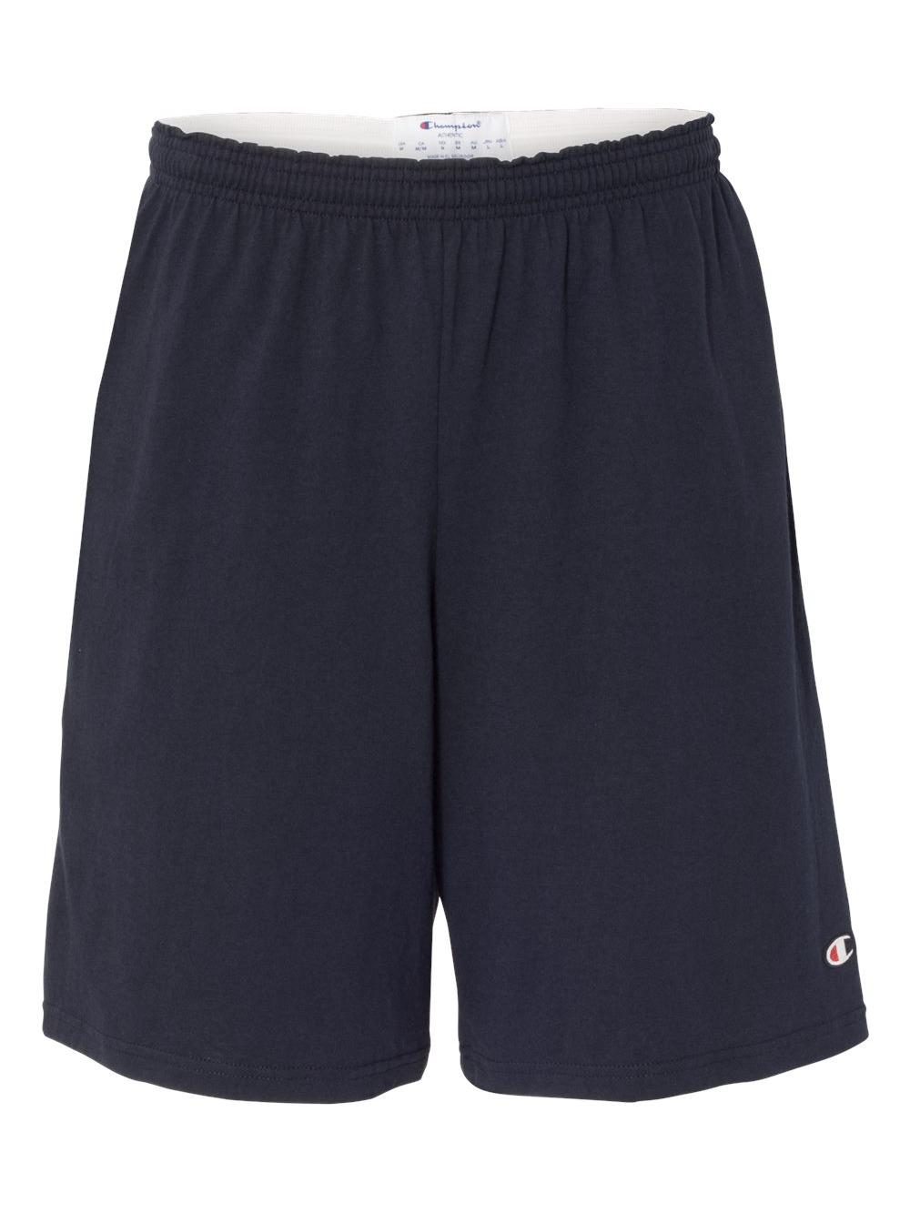 "Champion Athletics 9"" Inseam Cotton Jersey Shorts with Pockets"