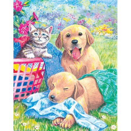 """Color Pencil By Number Kit 8.75""""X11.75""""-Wash Day Fun - image 1 of 1"""